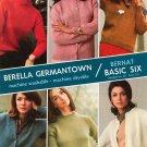 Vintage Berella Germantown Bernat Basic Six Booklet 137 Sweaters