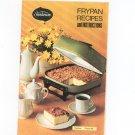 Sunbeam Frypan Recipes Cookbook Manual Vintage 1972