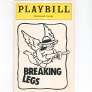 Playbill Breaking Legs Promenade Theatre Souvenir Program 1992