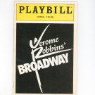Playbill Jerome Robbins Broadway Imperial Theatre Souvenir Program 1990