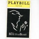 Playbill Disney's Beauty And The Beast Palace Theatre Souvenir Program 1996