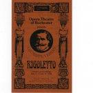 Giuseppe Verdi's Rigoletto Opera Theatre Of Rochester Souvenir Program 1993