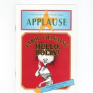 Carol Channing Hello Dolly Rochester Broadway Theatre League Applause Souvenir Program