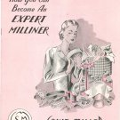 How You Can Become An Expert Milliner Catalog by Louie Miller School Vintage 1946