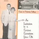 Vintage Peabody College Admission Catalog 1958