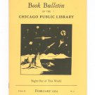 Book Bulletin Of The Chicago Public Library February 1954 Right Out Of This World