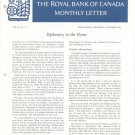 Vintage The Royal Bank Of Canada Monthly Letter 1969 Lot Of 11