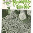 Pineapple Fan Fair Book No. 266 Crochet Clarks J&P Coats Vintage 1950 First Edition