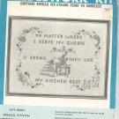 Vintage Bucilla Kitchen Sampler Needlework Kit Kit 1600 All Linen Cross Stitch In Package