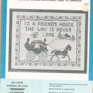 Vintage Bucilla Friendship With Horse Sampler Needlework Kit 1603 All Linen Cross Stitch In Package