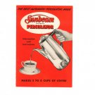 Vintage Sunbeam Automatic Percolator Information And Manual Instructions