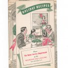 Holiday Recipes Cookbook Regional New York Rochester Gas & Electric RGE Christmas