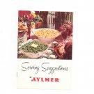 Vintage Serving Suggestions by Aylmer Cookbook