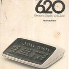 Vintage Monroe Model 620 Electronic Display Calculator Manual / Instructions