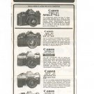 Canon Products Guide Fold Out Advertising Chart 1980 Not PDF