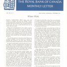 Vintage The Royal Bank Of Canada Monthly Letter 1965 Lot Of 8