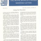 Vintage The Royal Bank Of Canada Monthly Letter 1963 Lot Of 9
