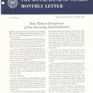 Vintage The Royal Bank Of Canada Monthly Letter 1961 Lot Of 8