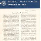 Vintage The Royal Bank Of Canada Monthly Letter 1955 Lot Of 2