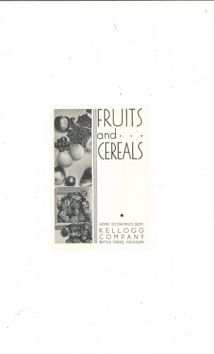 Fruits And Cereals Recipe Leaflet by Kellogg Company