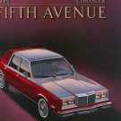 1985 Chrysler Fifth Avenue Sales Brochure