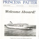 Lot of 7 Princess Patter August 1987 M/V Royal Princess