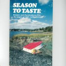 Season To Taste Cookbook Cape Codder 0960981446