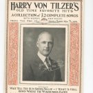 Vintage Harry Von Tilzer's Old Time Favorite Hits Words & Music