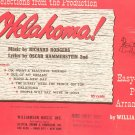 Vintage Selection From The Production Oklahoma Easy To Play Piano