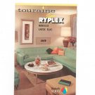 Vintage Tourain Super Ryplex Miracle Latex Flat  Paint Color Chart Chip 1966