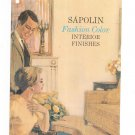 Vintage Sapolin Fashion Color Interior Finishes Paint Brochure With Color Chips 1964