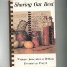 Sharing Our Best Cookbook Regional Presbyterian Church Bethany New York