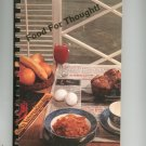 Food For Thought Cookbook Regional Zonta Club Ogdensburg New York