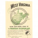 Vintage West Virginia Motorscenic Centennial Treat Travel Guide Brochure 1963