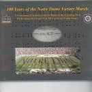 100 Years Of The Notre Dame Victory March First Edition Fight Songs Hard Cover