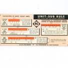 Vintage Dual Sided Short Air Circuit Breakers Calculator Sub Rule Allis Chalmers Advertising 1957