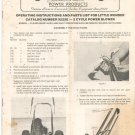 Little Wonder Power Blower Instructions & Parts List 9222E Not PDF