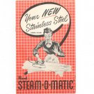 Vintage Rival Steam O Matic Iron Model R500B Owners Manual 1951