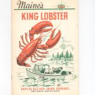Maine's King Lobster Vintage 1962 Department Of Sea & Shore Fisheries Taylor & Dow