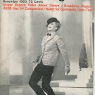 Dance Magazine November 1963 Vintage Ginger Rogers