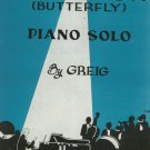Vintage Papillon ( Butterfly) Piano Solo Sheet Music by Greig Calumet Music