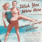 Vintage Wish You Were Here Sheet Music Chappell Music