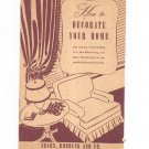 Vintage How To Decorate Your Home Sears Roebuck And Co. 1941