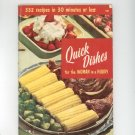 Quick Dishes For The Woman In A Hurry Cookbook Vintage Culinary Arts 101 1955