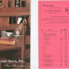 E. A. Clore Sons Fine Furniture Catalog With Price List Number 9