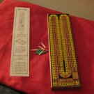 Drueke's Matural Finish Hardwood Cribbage Board Number 2050 With Original Box Vintage