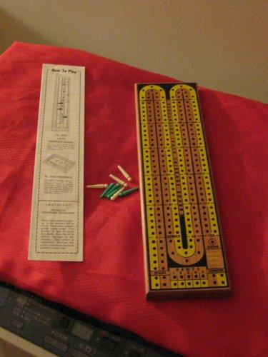 Drueke's Matural Finish Hardwood Cribbage Board Number 2050 With Original Box Vintage