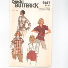 Butterick Top Pattern Size 8 Number 6187