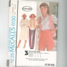 McCall's Shirt Vest Skirt Pants Shorts Pattern Number 6130 Size 8 10 12