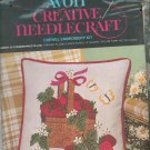 Avon Basket Of Strawberries Pillow Cover Crewel Embroidery Kit Creative Needlecraft